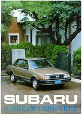 Subaru 1300 1600 1800 DL GLF GFT 4WD MV 1979-80 UK Market Sales Brochure