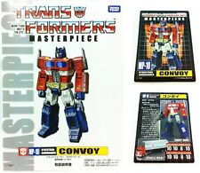 Transformers G1 Takara Masterpiece MP-10 Optimus Prime Booklet Manual & Card