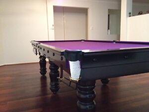 CLASSIC Quality Brazilian Slate Snooker Pool Billiard Table Brisbane to Coffs