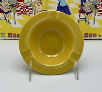 Vintage Fiesta Pottery Ashtray in Original Yellow Small Chip