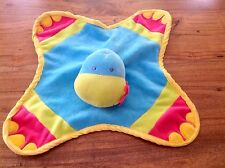 KEEL TOYS DINKY DINO Blue Velour Baby Comforter Blankie Soft Toy Rattle.