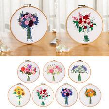 Printed Cross Stitch Kit Embroidery Kits Sunflower Floral Patterns Needlework