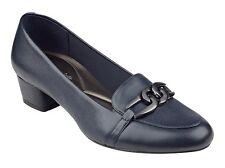 Easy Spirit Umandra loafer pump navy blue leather sz 10 Med NEW