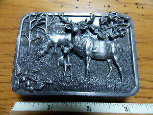 ELK  Belt Buckle Siskiyou Leather and Buckle Co.1982  Made in U.S.A. Great Shape