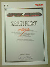 1/220ème Z   CERTIFICAT / ZERTIFIKAT pour LOCO VAPEUR DAMPFSCHNEESCHLEUDER 81360