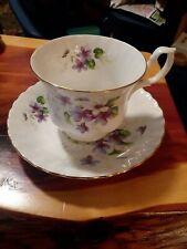 TEA CUP AND SAUCER ROYAL ALBERT bone china LAVENDER ROSE VINTAGE ENGLAND Coffee