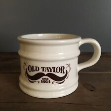 "Vintage Old Taylor Since 1868 Vintage Shaving Mug Cup Barber Salon 3.25"" Tall"