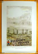 WILSON'S WORLD Clement Hurd PHOOEY city smog & traffic Book Ad Print Poster 1971