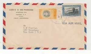 D174392 Panama Airmail Cover 1952 New York USA