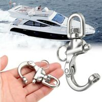 316 Stainless Steel Quick Release-Boat Anchor Chain Eye Shackle Swivel Snap Hook
