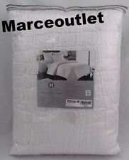 Hotel Collection Finest Bed Linen Crescent KING Quilted Coverlet White