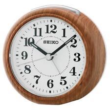 Seiko QHE157B di alta qualità Beep Sveglia con Snooze & Luce-Wood Finish
