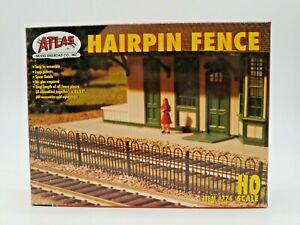 """HO SCALE ATLAS #774 """"HAIRPIN FENCE"""" MAKES 35.5"""" OF FENCING. FACTORY SEALED PARTS"""