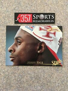 1996 PINNACLE ACTION PACKED STUDS JERRY RICE #D /1500 REAL DIAMOND SP GOAT 49ERS