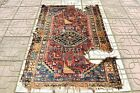 Fabulous Antique Caucasian Worn Rug Collector's Piece Shabby Chic Carpet Rug