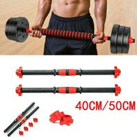 Dumbbell Bar Handles Weight Lifting Spinlock Collar Gym Barbell Training Set