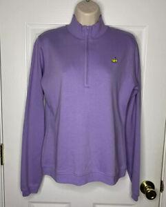 MAGNOLIA LANE The MASTERS Women's 1/4 Zip Golf Pullover Shirt Purple Size M