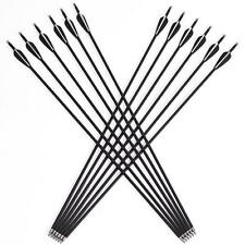 12Pcs 31'' Archery Carbon Arrows Target Practice Hunting Compound Recurve Bow