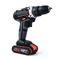 42V Double Speed Cordless Rechargeable Electric Drill with 2pcs Battery X4S5