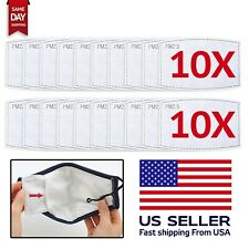 20 Pack PM2.5 Filters For Face Mask 5 Layer Replacement Activated Filters New