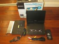 "Sony DVP-FX930 Portable DVD Player (9"") W/ Remote Car Adapter GOOD Battery WORKS"