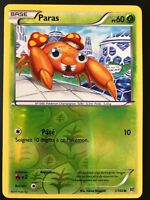 Carte Pokemon PARAS 1/162 Reverse XY8 Impulsion TURBO FR NEUF