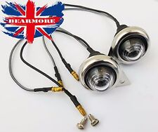 PILOT LIGHT CLEAR GLASS WITHE LED BULB CHROME RIM FOR ROYAL ENFIELD