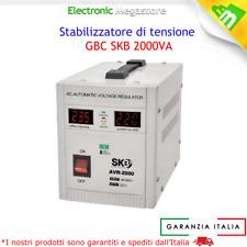 STABILIZZATORE DI TENSIONE E CORRENTE 2000VA 1200W CON DISPLAY DIGITALE GBC