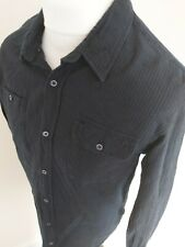 Scotch Soda Wheel Of Fortune Shirt Cord Blue Large 42 Chest long sleeve