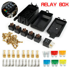 Fuse Box Auto 6 Relay Block Holders 5 Road Fit For Car & Trunk ATV Insurance AU