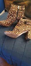 Ann Taylor Euc Leopard Calf Hair Booties Gorgeous 💋 Size 11.