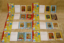 COLLECTION LOT OF 16x THE SIMPSONS FILM CARDS + PACKETS & SPECIAL ORDER SLIPS