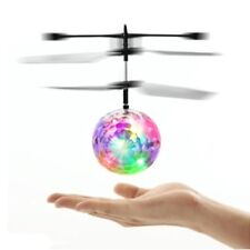 RC Helicopter Flying Quadcopter Drone Induction Fly Flash Ball Toys Children Toy