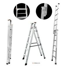 Brancley DUAL PURPOSE 6ft / 11 foot aluminium step folding ladder heavy duty