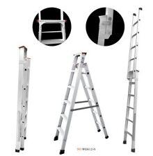 Brancley DUAL PURPOSE  8ft / 15 foot aluminium step folding ladder heavy duty