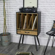 Classic retro vintage vinyl record storage filing cabinet rustic chic furniture