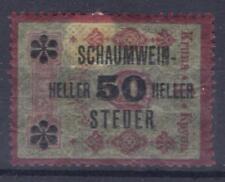 Austria revenue tax on sparkling wine 50 H on 1 K MH fiscal Stempelmarke