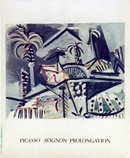 """""""PICASSO (AVIGNON PROLONGATION 1973)"""" Affiche originale entoilée Litho MOURLOT"""