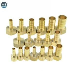 "Brass Hose Fitting Barb Tail 1/8"" 1/4"" 1/2"" 3/8"" BSP Female Thread Copper Joint"