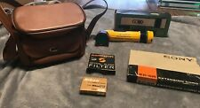 Lot OfVintage KODAK Brownie Hawkeye Antique Camera with Case/ Nikon/filters/cord