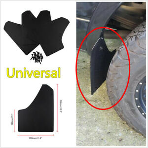 4Pcs Universal Car Truck Pickup Wheel Moulding Mud Flaps Splash Guards Black