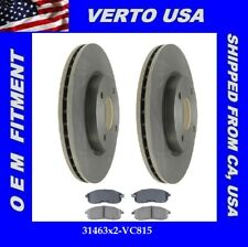 Front Brake Rotors & Ceramic Pads for Nissan Versa 2007-2008 & 2009-2012 1.8L