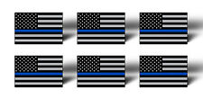 6 Thin Blue Line Flag USA American Sticker Decal Car Lives Matter Tag Cup Phone