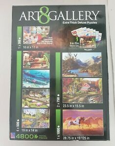 Art Gallery 8 Extra Thick Deluxe Puzzles Set 4800 Pieces.    S1
