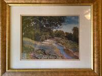 "Texas Artist B Herd Signed & # 36/500 Print ""SPRING CREEK ""Bluebonnets COA"