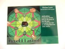"DIVINE LOVE Healing Crystal Grid Card 4x5"" Cardstock Calm Protection Energy"