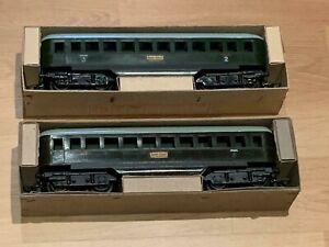 Zeuke Spur 0  2 Stück D-Zug Wagen im Originalkarton