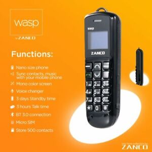 World's small Mini Small GSM Mobile Phone Dialer ZANCO wasp CellPhone cellular