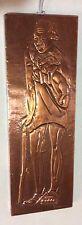 Kinegeno Kenya Hammered Sheet Copper Art Figure  Wall Hanging