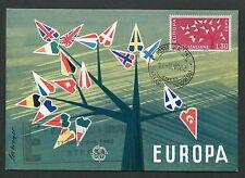 Italia MK 1962 EUROPA CEPT maximum carta carte MAXIMUM CARD MC cm d3441